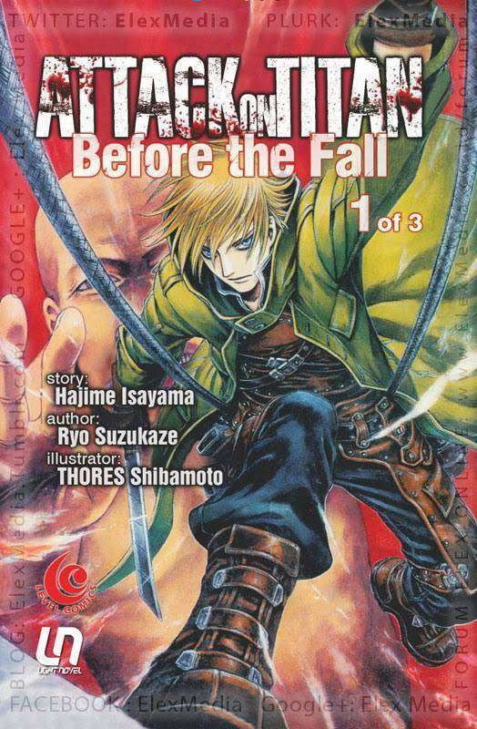 novel attack on titan before the fall akan rilis di