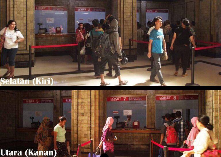Loket baru di Hall Stasiun Jakarta Kota