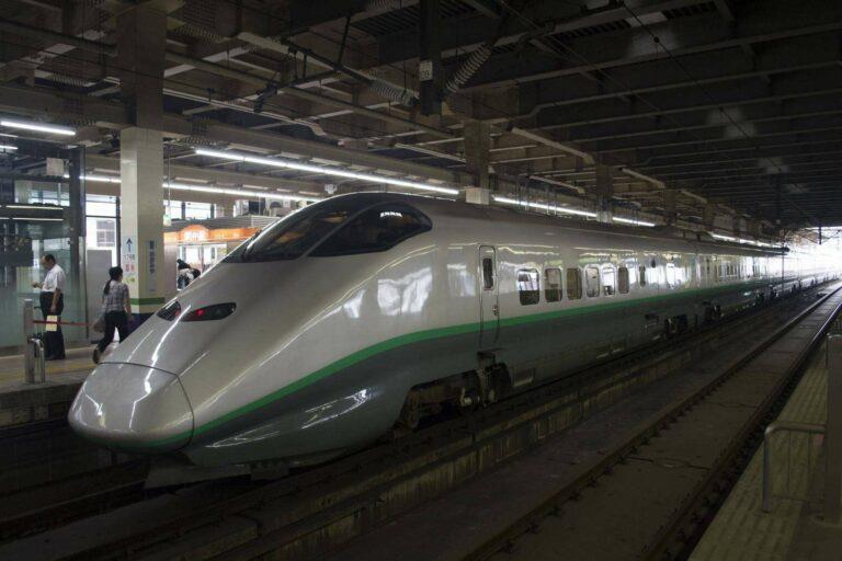 Shinkansen di stasiun Omiya