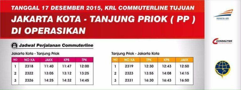 Jadwal KRL relasi Jakarta Kota - Tanjung Priok PP