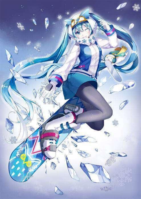 Snow Miku versi 2016, tampil lebih sporty.