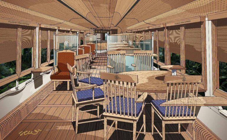 Ilustrasi Interior Fujisan View Express   Ilustrasi: Eiji Mitooka