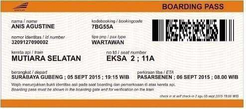 Ujicoba Sistem Boarding Pass Baru