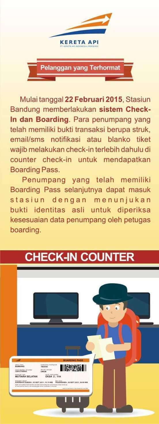 Cara melakukan check in dan boarding pass.