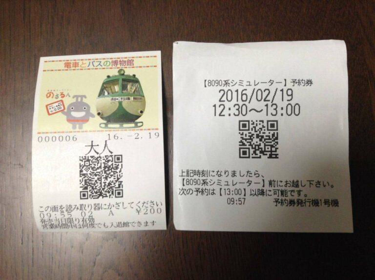 Bentuk tiket masuk museum