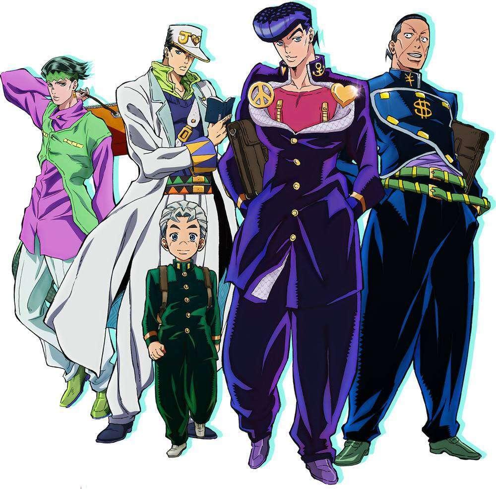 (david productions/Lucky Land Communications). Seri anime JoJo's Bizarre  Adventure: Diamond is Unbreakable ...