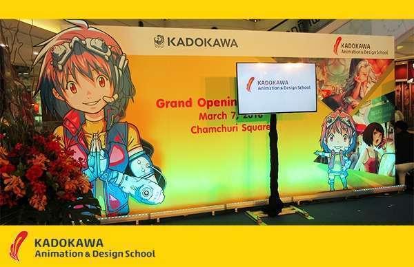 Grand Opening KADOKAWA Animation & Design School di Bangkok, Thailand.