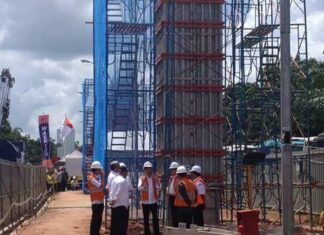 Presiden Jokowi Kunjungi Proyek LRT Palembang