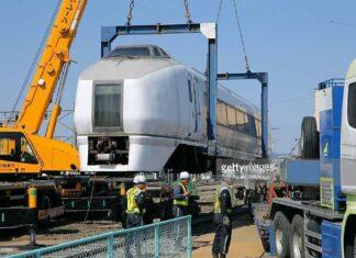 Kereta yang ditinggalkan sejak Gempa dahsyat di Jepang