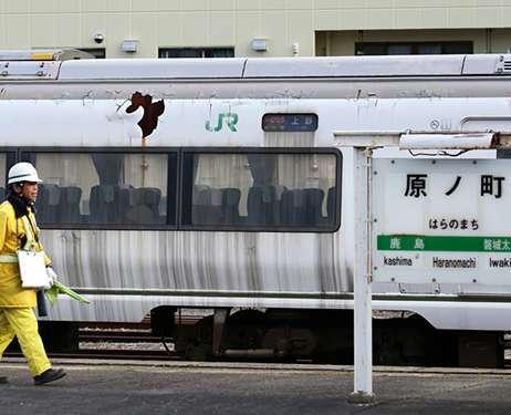 """Kereta """"Super Hitachi no. 50"""" milik JR yang menjadi korban saat gempa Jepang tahun 2011 lalu"""