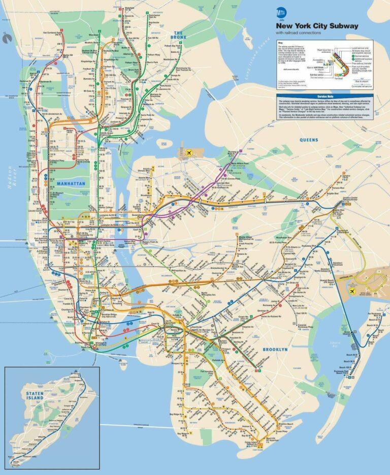 Peta New York Subway | Sumber: Wikipedia