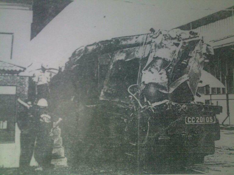 CC 201 05 setelah mengalami PLH Cirahayu | Source : (Dok Balai Yasa Perumka Yogyakarta)