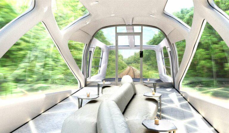 Pemandangan dari dalam kereta observasi | Sumber: jp-rail-sg.com