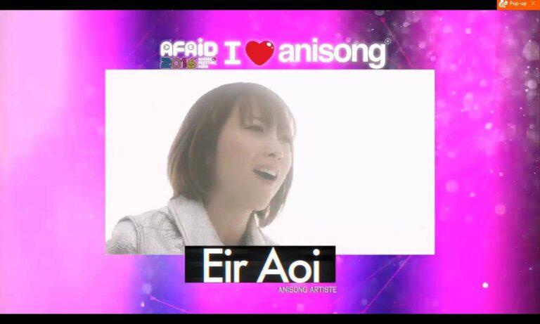 Eir Aoi, penyanyi yang pernah mengisi lagu di Fate/Zero, Sword Art Online, Kill la Kill, dan juga Arslan Senki