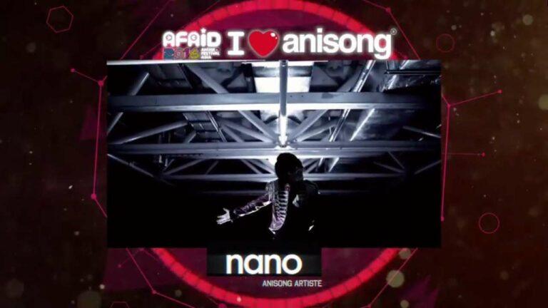 nano, penyanyi yang pernah terlibat di anime Btooom! serta Aoki Hagane no Arpeggio: Ars Nova. Tahun lalu sempat pula hadir di AFAID 2015.