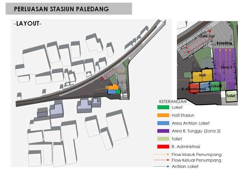 Desain denah stasiun Bogor Paledang