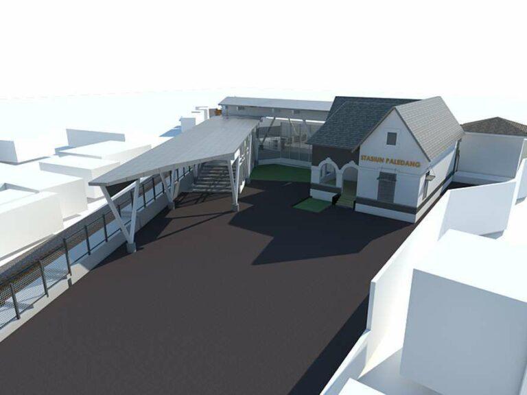 Ilustrasi desain Stasiun Bogor Paledang tampak atas