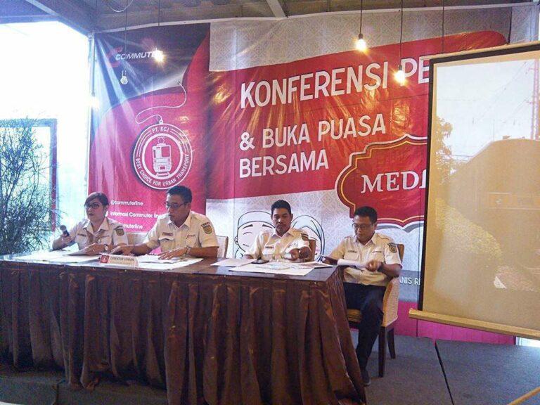 Acara konferensi pers PT KCJ & buka puasa bersama media