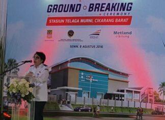 Bangun Stasiun KRL Telaga Murni