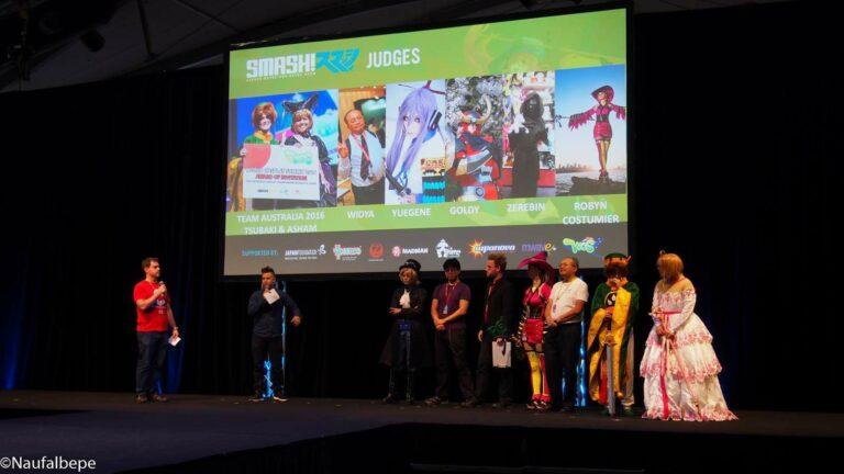 Juri dari WCS Australia Preliminary siap menguji para cosplayer Australia