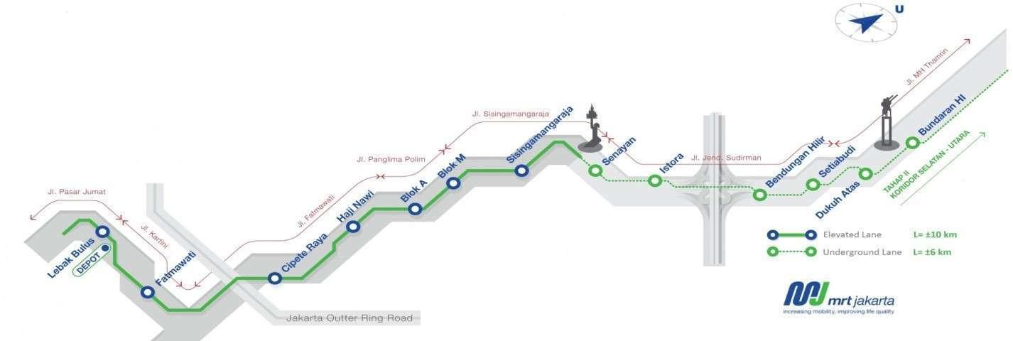 Gambar 1: Peta Jalur MRT