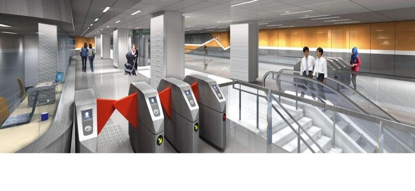 Gambar 2: Suasana stasiun bawah tanah MRT