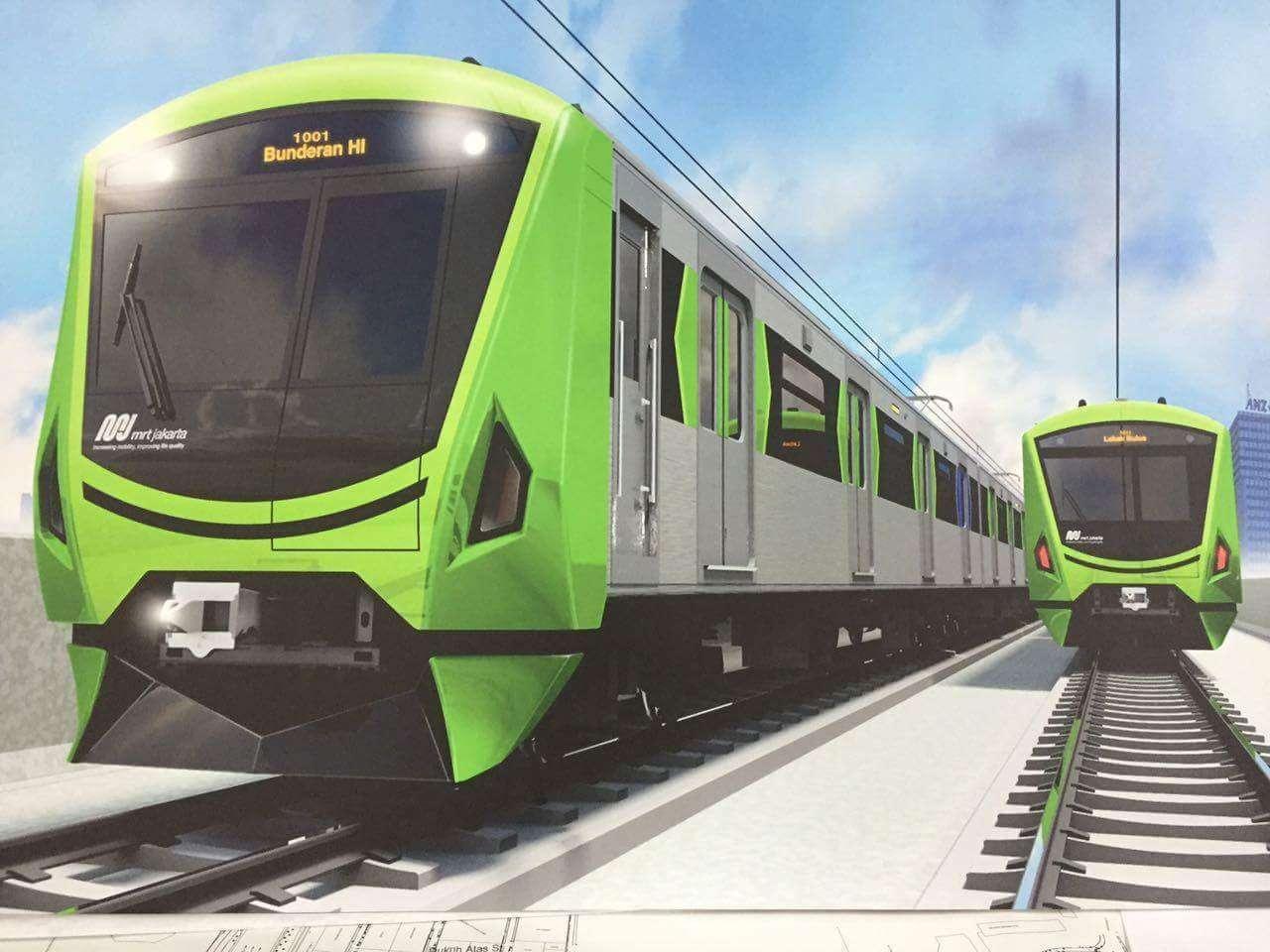Gambar 6: Eksterior kereta MRT