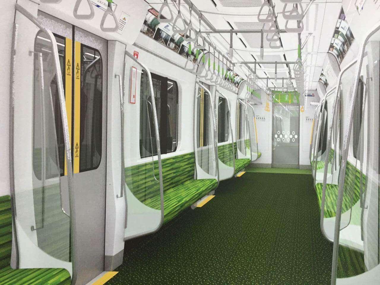 Gambar 7: Interior Kereta MRT