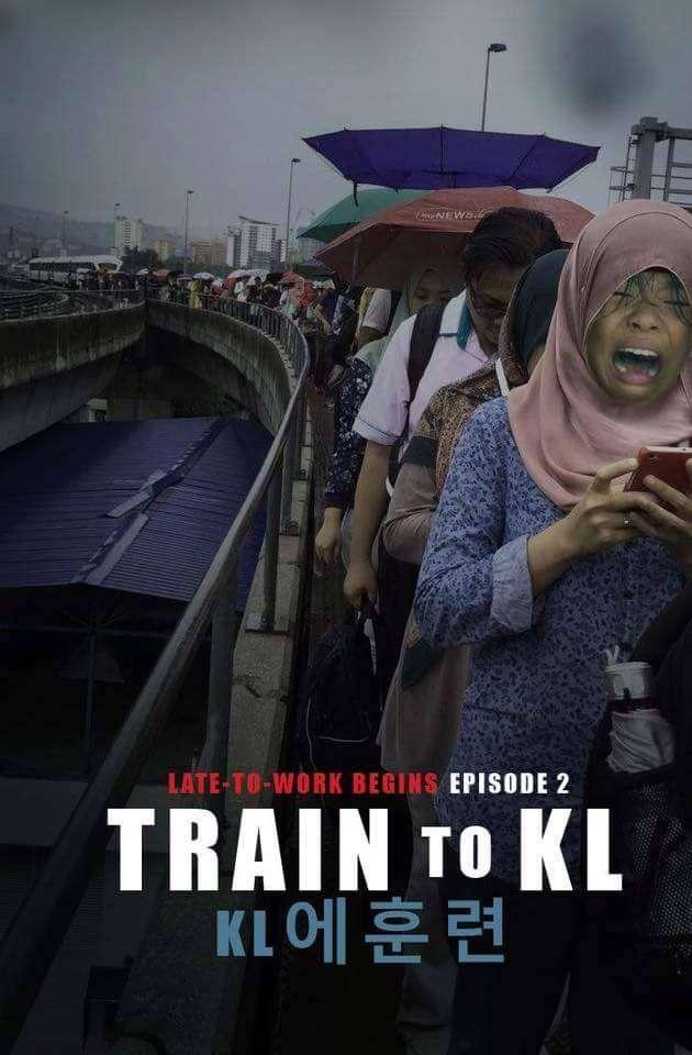 Gambar meme sindiran gangguan di LRT Jalur Kelana Jaya   Sumber: 9Gag Malaysia (Facebook)