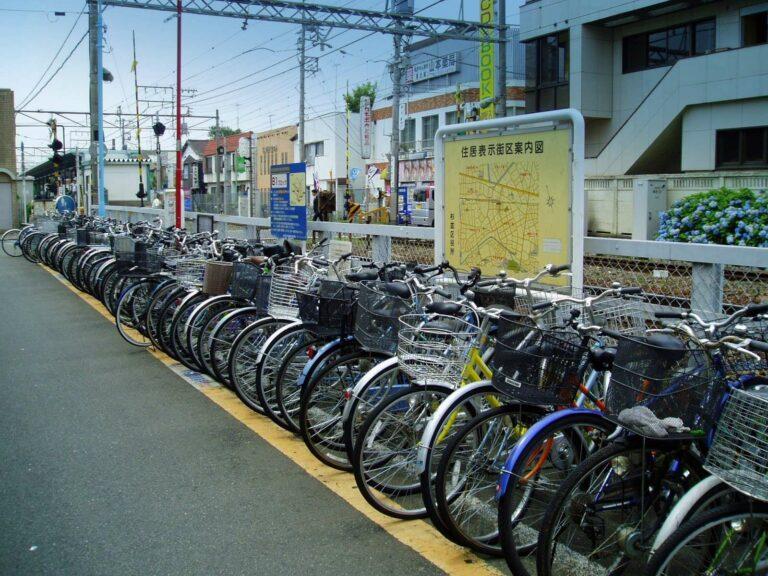 Area Parkir Sepeda di Jepang