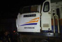 Lokomotif KA Malabar, CC206 95 yang tertemper oleh Backhoe