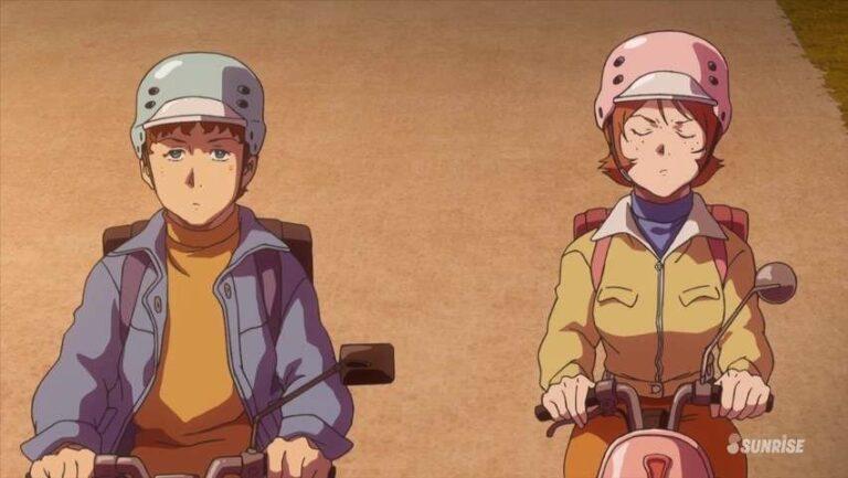Frau Bow dan Amuro sebelum One Year War dimulai