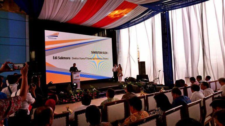 Sambutan Dirut PT Kereta Api Indonesia (Persero), Bpk. Edi Sukmoro, dalam acara Sinergi BUMN Penerbitan Kartu RAILPAY