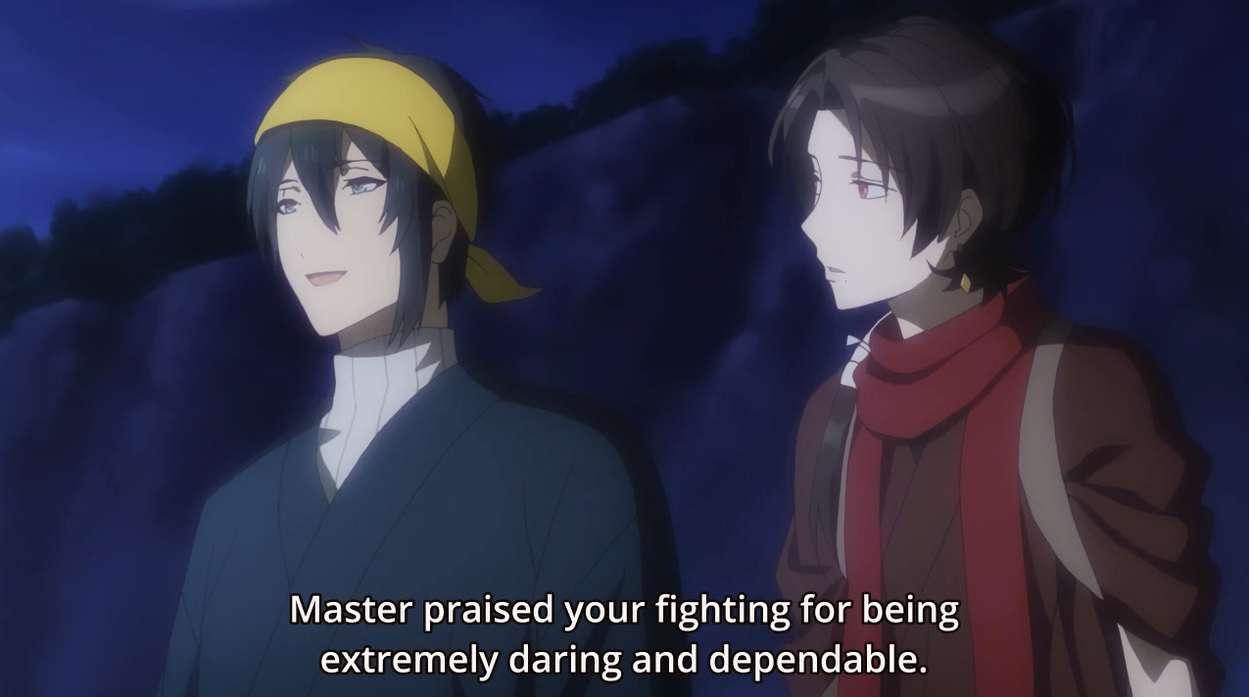 Curhat bersama Mikazuki dan Kashuu