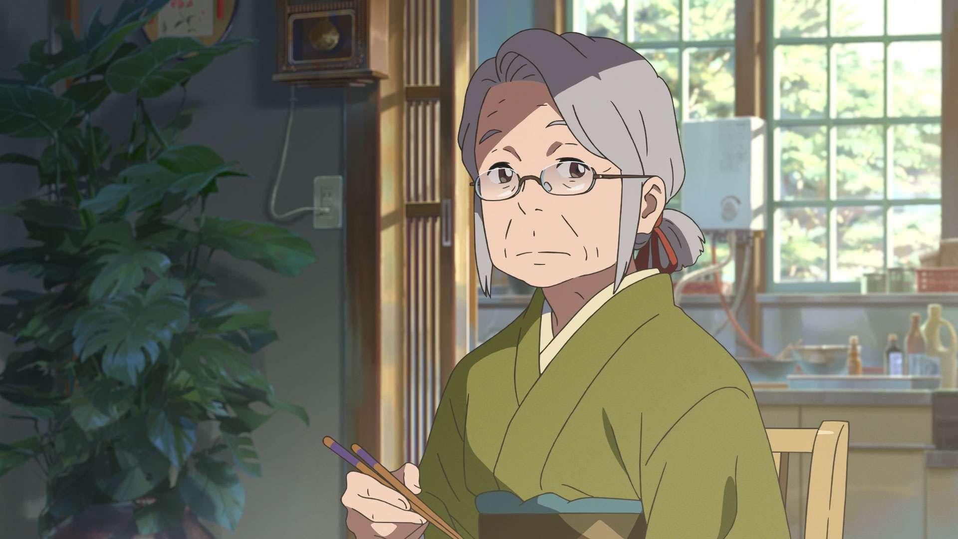 Sang nenek ini berperan sangat besar dalam membangun jalan cerita film ini. (CoMix Wave Films)