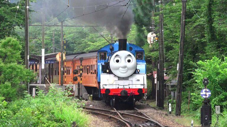 "Lokomotif uap ""Thomas"" saat berdinas"