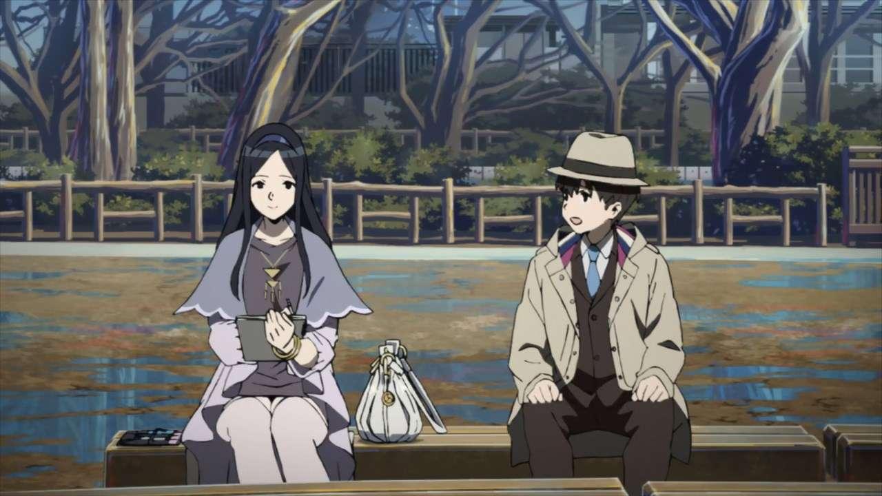 Ririka Nishizono bercengkerama dengan detektif Shun Moritsuka. (Project OC9/Chiyo st.inc.)