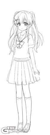 Gambar Sketsa Anime Angel Beats