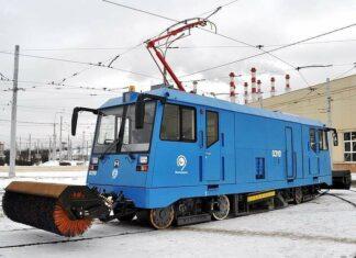 Wujud dari purwarupa tram pembersih salju milik Rusia.