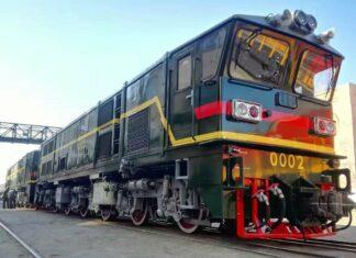 Lokomotif CKD7B Vintage pengiriman terbaru dari CRRC Dalian