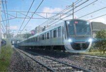 Ilustrasi KRL seri 2020 yang melintas di Jalur Denentoshi