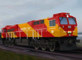 Desain lokomotif Evolution Series milik Indian Railways