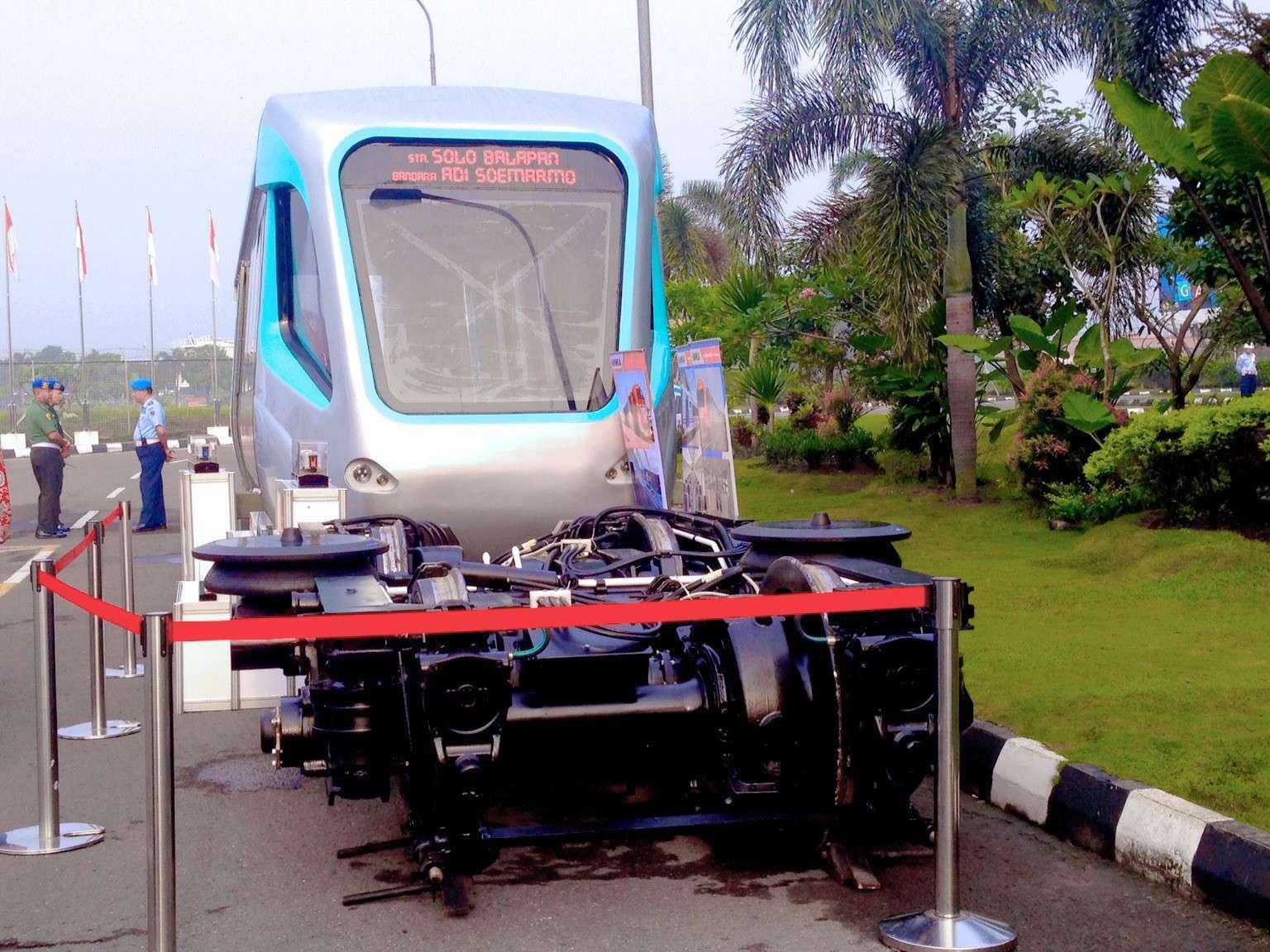 Ilustrasi: Mockup LRT Palembang yang digunakan sebagai contoh sarana KA Bandara Adi Soemarmo, Boyolali   Foto: Indra Yana