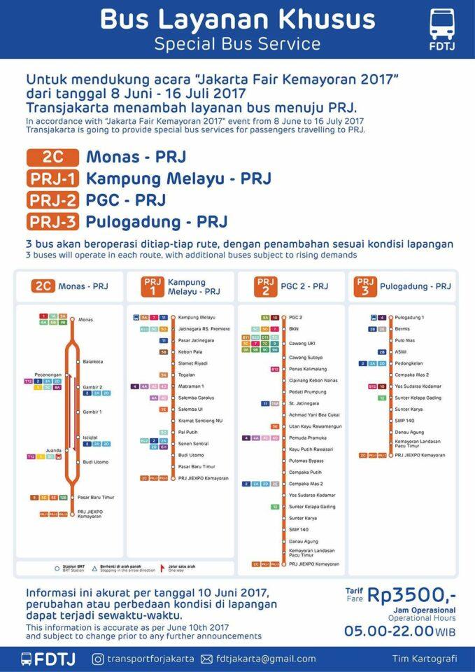 Ingin Khilaf Di Jakarta Fair 2017 Transjakarta Luncurkan Rute Bus
