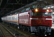 KLB kirim kereta E231-0 dari Akita menuju Dipo Higarashi-Tokorozawa | Foto: Satou Hiroki