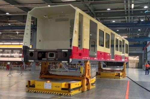 Rangka dari kereta S-Bahn yang sudah dicat | Sumber: Rail Journal
