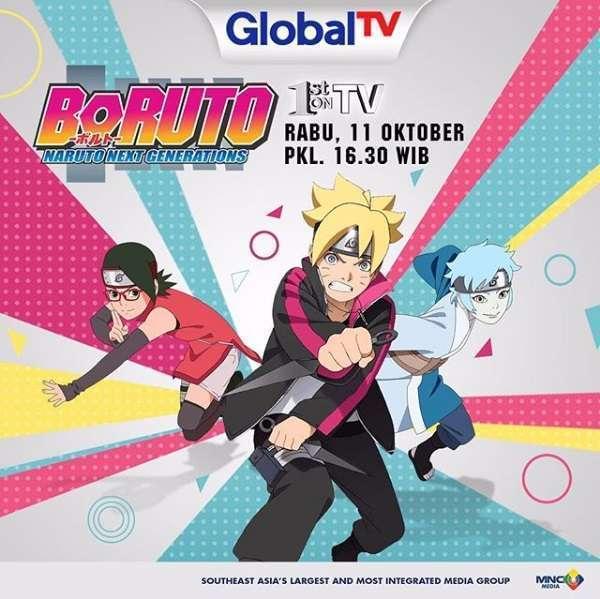 Sebagaimana Telah Diberitakan Sebelumnya Stasiun Televisi Global TV Akan Memutar Film Anime Boruto Naruto The Movie Hal Ini Terungkap Berdasarkan Data