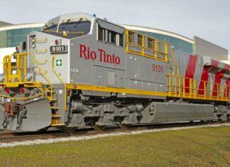Ilustrasi: Lokomotif KA Barang yang telah ditanam sistem otomatis oleh Rio Tinto (WA Business News)
