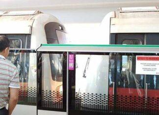 MRT Singapura Bertabrakan