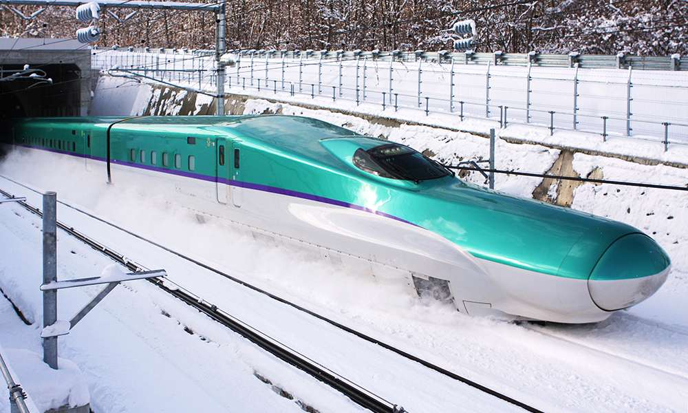 Kecepatan Shinkansen Di Terowongan Seikan